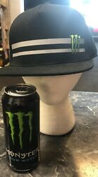 Lot Of 2 Rare Monster Energy New Adjustable Snapback Hat Cap And Energy Water Can