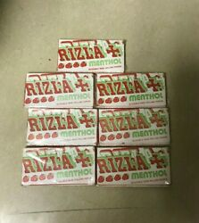 Lot Of 7 Booklets Rizla Brand Strawberry Menthol Flavor Cigarette Rolling Papers