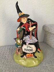 Blue Sky Clayworks Heather Goldminc Halloween Witch Potion Frog And Spell Tealight