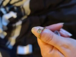1 Ct Solitaire Diamond 14ky Gold Ring