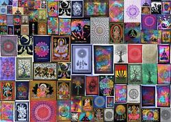 Indian Handmade Cotton Yoga Mat Poster Tapestry Ethnic Wall Hanging Table Cover
