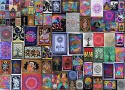 Indian Cotton Yoga Mat Poster Ethnic Wall Hanging Table Cover Tapestry Home Art