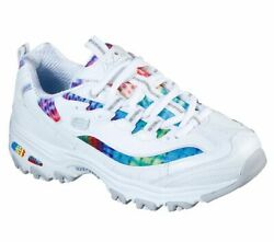 Skechers Women's D'Lites - Summer Fiesta WHITE  MULTI