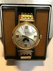 Men's Caravelle Columbia Pictures Gold Tone Winding Watch
