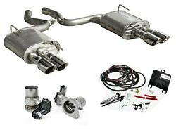 2015-2017 Mustang Ecoboost I4 2.3 Coupe Roush 421925 Quad Tip Active Exhaust Kit