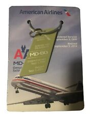 American Airlines Md80 Genuine Skin Tail N587aa 1991-2014 Commemorative Keychain