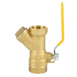 Brass Strainer Filter Ball Valve 3/4 Bspp Female Thread For Water Natural Gas