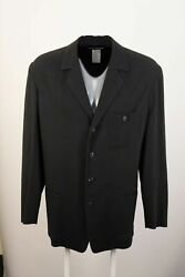 Issey Miyake Black Button Down Jacket Rrp Andpound995