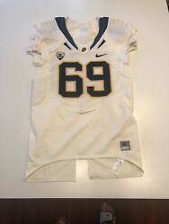 Game Worn Used Nike Cal Golden Bears Football Jersey 69 Size 46