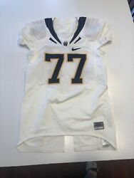 Game Worn Used Nike Cal Golden Bears Football Jersey 77 Size 46