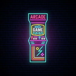 Aoos Custom Arcade Game Zone Dimmable Led Neon Light Signs For Wall Decor
