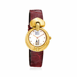 C. 1980 Vintage Nouvelle Bague Womenand039s 28mm 18kt Two-tone Gold Watch. Size 8