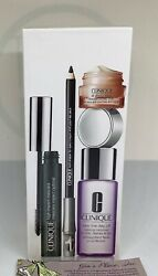 Clinique 4 Pc Eye Definition Set Sealed Box All About Eyes Cream,mascara,liner +