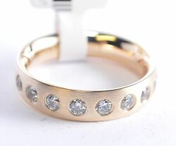 Brands Engagement Ring - Gold 750 With 9 Diamonds - Width 5mm