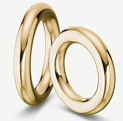 1 Pair Wedding Rings Gold 333 Polished - Width/high 5mm - Various Sizes - Top