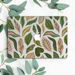 Nature Dark Green Leaves Floral Hard Case For Macbook Pro 13 15 16 Air 11 13