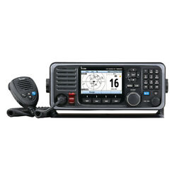 Icom Fixed Mount Boat Radio 25w Vhf With Color Display, Ais And Rear Mic Connector