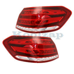 14-15 Mercedes E-class Outer Taillight Taillamp Rear Brake Light Lamp Set Pair
