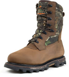 Rocky Arctic Mens Mobu Camo Leather Bearclaw Gtx Insulated Hunting Boots