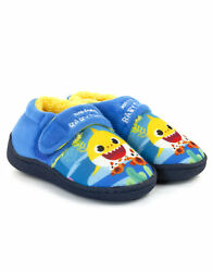 Pinkfong Baby Shark Character Blue Multicoloured Boy#x27;s Kids Strap Slippers $21.75