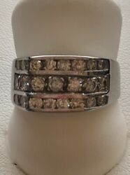 Wr28 A25 14 Kt White Gold Approx. 1 Ct. Total Weight Diamond Ring