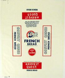 Vintage Bread Wrapper Harvest Queen Golden State Fresno California New Old Stock