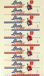 Vintage Bread Wrapper Liberty With Statue Pictured Pep-o Bakery Addison New York