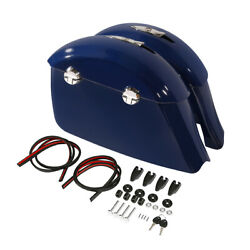 Blue Saddlebags W/ Electronic Latch Lid For Indian Chieftain Dark Horse 16-18 17