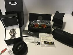 OAKLEY JULIET RUBY IRIDIUM X-METAL JUDGE II LINEGEAR RUBBERCASE! 5 NEW ITEMS!