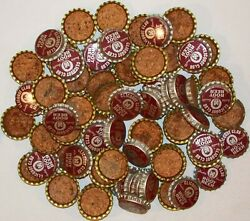 Soda Pop Bottle Caps Lot Of 100 Clicquot Club Root Beer Cork Lined New Old Stock