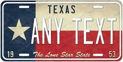 Texas Flag Style License Plate Novelty Personalized for Auto ATV Bike Motorcycle $17.99