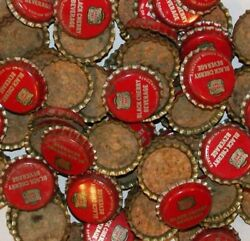 Soda Pop Bottle Caps Lot Of 25 Canada Dry Black Cherry Cork Lined New Old Stock