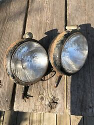 Vintage Headlight With Arrow Turn Marker Parking Lights Guide Blc Rat Rod Truck