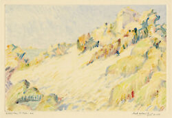 Sybil Andrews And039le Petit Bay St. Maloand039 Rare Signed Color Monotype C. 1925.