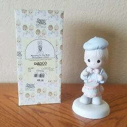 Enesco Precious Moments Figurine - Marching To The Beat Of Freedom's Drum 1995