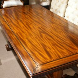 7' Traditional French Country Farm Rustic Mahogany Dining Trestle Table