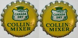 Soda Pop Bottle Caps Canada Dry Collins Mixer Lot Of 2 Cork Lined New Old Stock