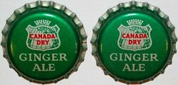 Soda Pop Bottle Caps Canada Dry Ginger Ale Lot Of 2 Cork Lined New Old Stock