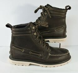 Sperry Top Sider A/o Lug Ii Weatherproof Mens Leather Brown Boots Sz 8 New Rare