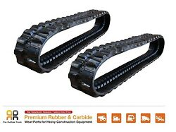 2pc Rubber Track 300x52.5x82 Made For Cat 302.7dcr Mini Excavator