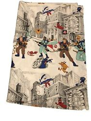 Vtg 1984 The Ghostbusters Cartoon Tv Show Columbia Pictures Twin Flat Sheet Bed