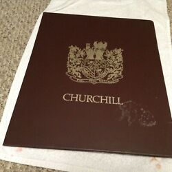 Sarah Churchill Litho Of Winston - On The Death Of Fdr Roosevelt Signed And Numbe