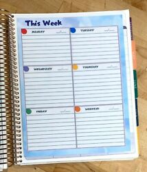 And039this Weekand039 Daily Lined Boxes Dashboard Insert 4 Use With Erin Condren Planner