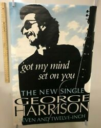 Huge Subway Poster George Harrison Got My Mind Set On You The New Single