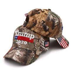 Baseball Caps Camouflage Donald Trump Usa Flag Snapback 3d Embroidery Travel Hat