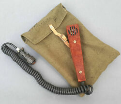 Vintage Military Microphone With Bag Ml-3k МЛ-3К For Radio Marine Navy Boat Sea