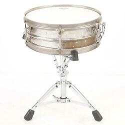 1920and039s Ludwig Super Ludwig 4.5 X 14 Metal Separate Tension Snare Drum 39524