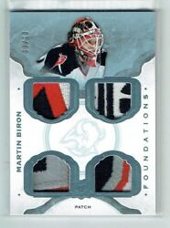 14-15 Ud Upper Deck The Cup Foundations Martin Biron /10 Quad Patches