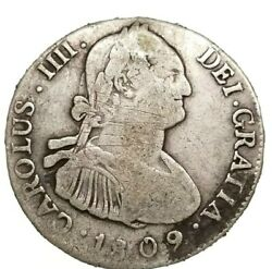 Rare 1809 Pj 4 Reales Bolivia Spain Colonial Milled Silver Coin Potosi Mint
