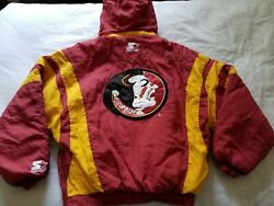 Youth Fsu Florida State Seminoles Pull Over Starter Jacket Size Large With Hood